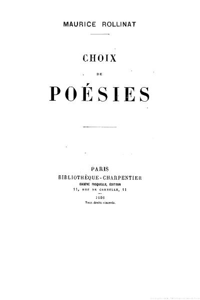 File:Rollinat - Choix de poésies, 1926.djvu