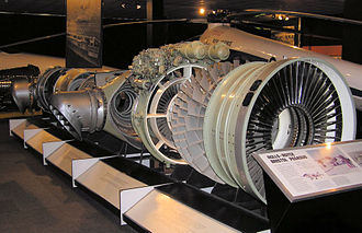 Rolls-Royce Pegasus - Rolls-Royce Bristol Pegasus, engine of the vertical takeoff Harrier, in the Bristol Industrial Museum, England.