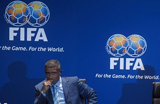 Romário - Romário at FIFA headquarters in Zurich, Switzerland in 2007 at the announcement of Brazil being named hosts of the 2014 FIFA World Cup