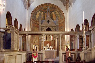 Byzantine Papacy - The Byzantine-influenced interior of Santa Maria in Cosmedin