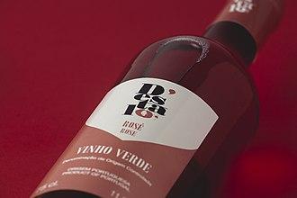 Rosé - Light-colored Vinho Verde Rosé Wine from Portugal.