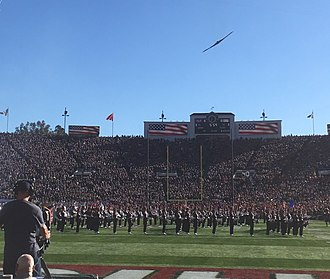 2019 Rose Bowl - B-2 Spirit flyover before the game