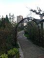 Rose garden and Miharashi Tower in Rokko Garden Terrace 20141008.jpg