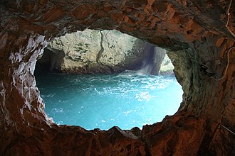 Rosh HaNikra grottoes - Image: Rosh Hanikra in summer 2011 (2)