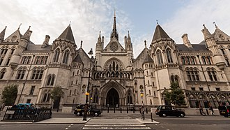 Royal Courts of Justice - The front of the court building