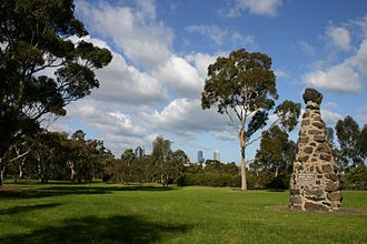 Burke and Wills expedition - Monument in Royal Park, Melbourne where the expedition commenced