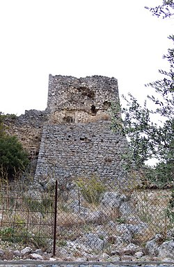 Remains of the Norman castle.