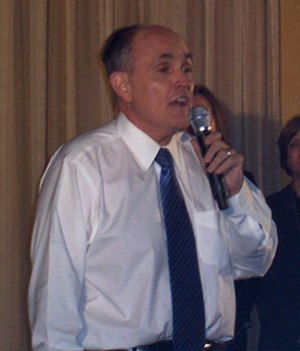 Rudy Giuliani presidential campaign, 2008 - Rudy Giuliani speaking during his campaign in Florida.