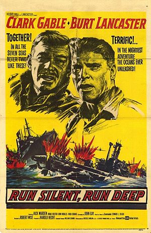 Run Silent, Run Deep (1958 film) - Theatrical release poster by Reynold Brown