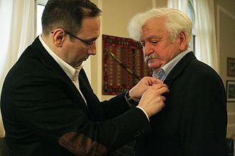 Nika Rurua - Minister Nikoloz Rurua and the writer Revaz Cheishvili