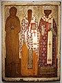 Russia centrale, icona con tre santi, aleksei dic risto, aleksei metropolita e filippo metropolita, 1650 ca.jpg
