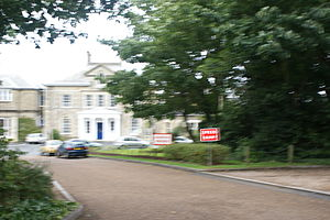 Ryde School with Upper Chine - The main entrance before construction of the Bembridge Building.
