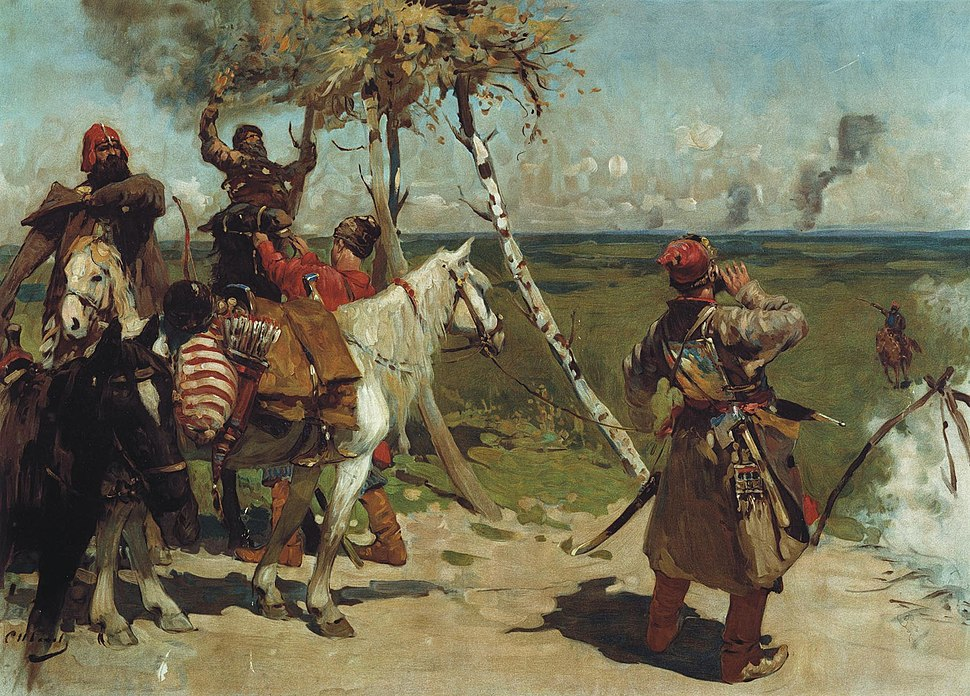 S. V. Ivanov. At the guarding border of the Moscow state. (1907)