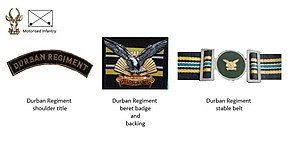 Durban Regiment - SADF era Durban Regiment insignia