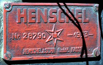 South African type CZ tender - Tender works plate