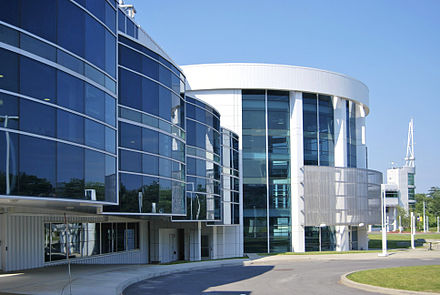 SUNY Polytechnic Institute's College of Nanoscale Science and Engineering embodies Albany's emerging high-tech industry. SUNY Nanotech Center.jpg