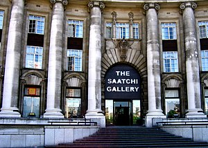 The Saatchi Gallery was based at County Hall 2...