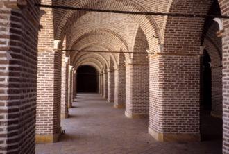 Caravanserai of Sa'd al-Saltaneh - The interior of the caravanserai.