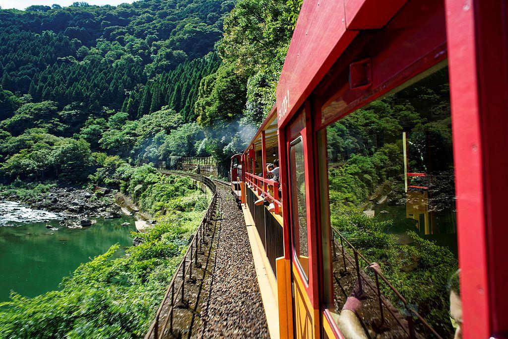 Sagano Scenic Railway Hozu River 2016-08-26