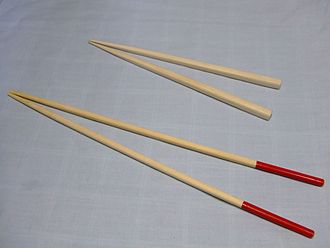 Chopsticks - Hashi (for eating) and saibashi (for cooking, shown below)