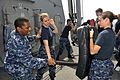 Sailors practice nonlethal security techniques. (8467234061).jpg