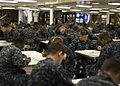 Sailors take an advancement exam at sea. (8407483079).jpg