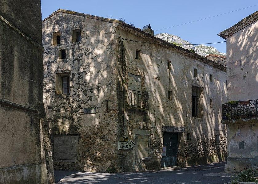 Old houses in the village of Saint-Jean-de-Buèges, Hérault, France
