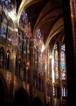 Interior Of The Basilique Saint Denis In France One First Buildings Built Partially Gothic Style