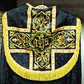 Saint Henry Catholic Church (St. Henry, Ohio) - artifact, vestment detail, Holy Monogram in black and gold.jpg