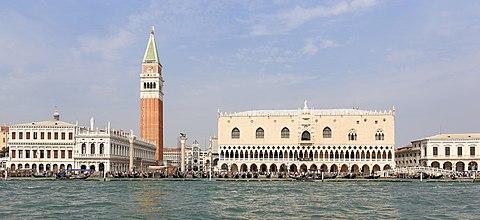 Saint Mark Campanile and Palazzo Ducale Venice September