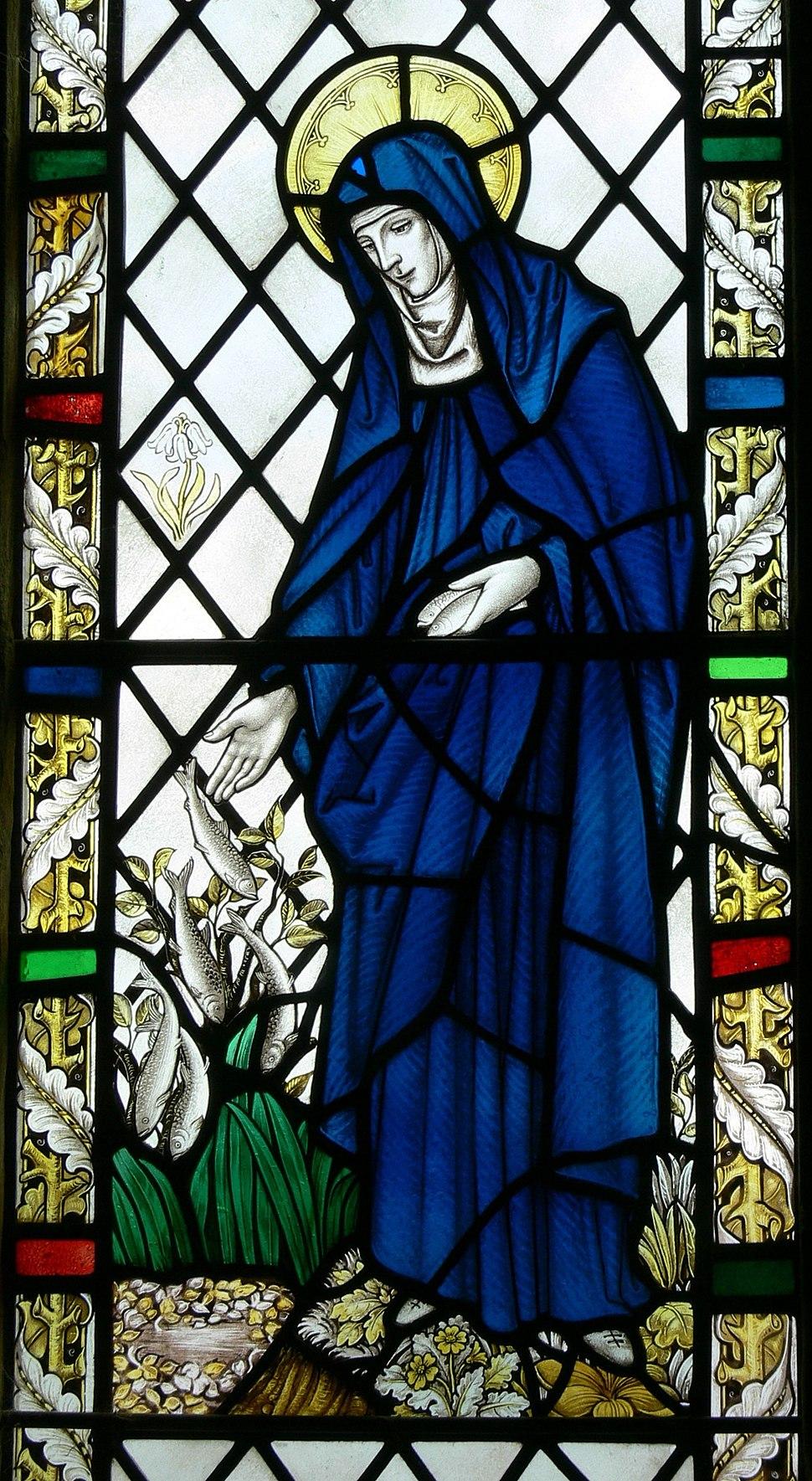Saint Non's Chapel - Fenster 3 St.Bride