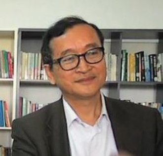 Politics of Cambodia - Opposition leader and CNRP President Sam Rainsy