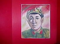 Samat Sadykov's Portrait, Samat Secondary School.JPG