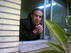 Mojtaba Saminejad - Mojtaba Saminejad at university in handcuffs