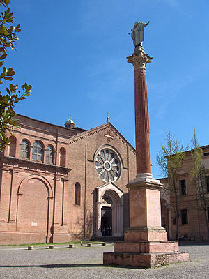 Basilica of San Domenico - The church of San Domenico with column of St Dominic