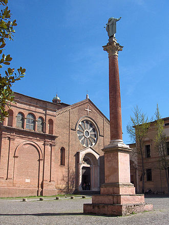 Basilica of San Domenico - The church of San Domenico with column of St Dominic
