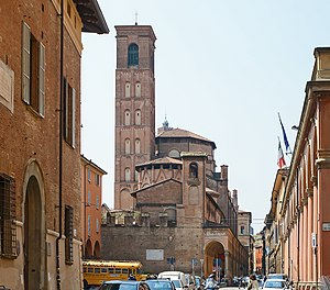 Basilica of San Giacomo Maggiore - Apse and bell tower.