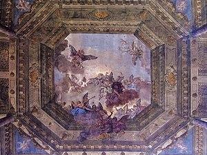 San Martino, Venice -  The central ceiling fresco from Domenico Bruni.