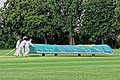 Sandwich Town CC mobile cricket pitch covers at Sandwich, Kent, England 09.jpg