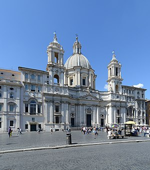 Sant'Agnese in Agone - Sant'Agnese from Piazza Navona