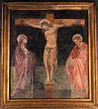 Santa cecilia in trastevere, interno, crocifissione coi dolenti del 1390 ca.jpg