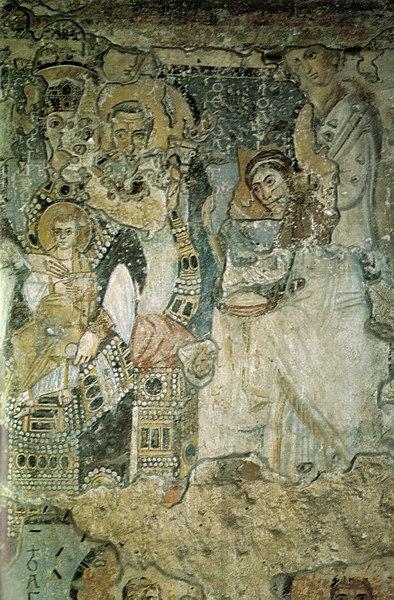 File:Santa maria antiqua, annunciazione 565-578.jpg