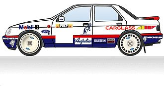 Ford World Rally Team - 1992 Mobil 1 livery as used on the Monte Carlo Rally