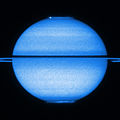 Saturn's double aurorae (captured by the Hubble Space Telescope).jpg