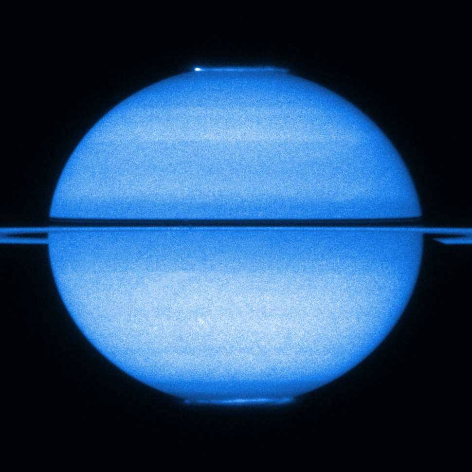 Saturn's double aurorae (captured by the Hubble Space Telescope)