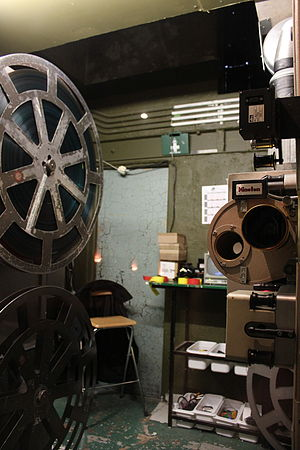 Projection booth - The projection booth in the Savoy Theatre, Monmouth.