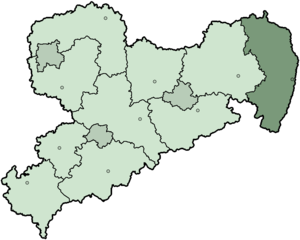 Görlitz (district) - Image: Saxony Landkreis Görlitz 2008
