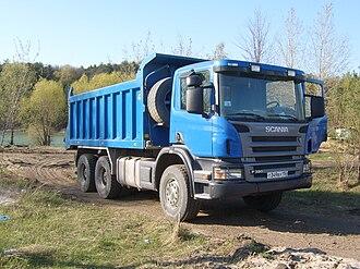 Scania PRT-range - Scania P 380 tipper truck in Russia.
