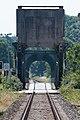 Schleibrücke Lindaunis.Blick vom Bahnübergang Lindaunis.Brückenöffnung.1.ajb.jpg