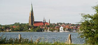 Schleswig Cathedral - Schleswig Cathedral as seen from the Schlei.